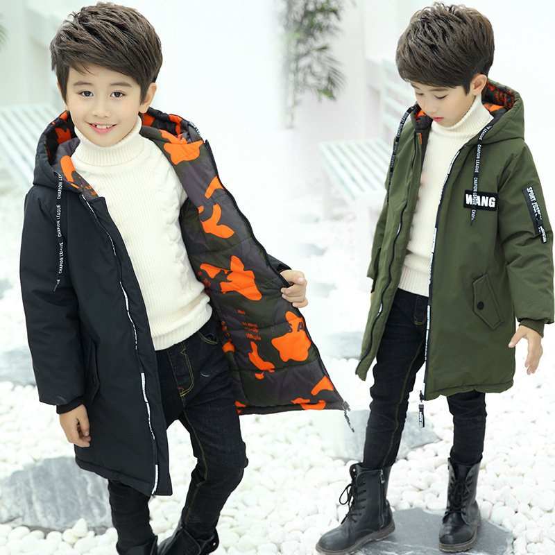 Winter Boys Jackets 2019 Children Parkas Thick Camouflage Wear On Both Sides Warm Outerwear Teens Boy Hooded Long Cotton-CoatsWinter Boys Jackets 2019 Children Parkas Thick Camouflage Wear On Both Sides Warm Outerwear Teens Boy Hooded Long Cotton-Coats