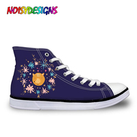 NOISYDESIGNS Trendy Animals Forest Fox Printed Vulcanized Shoes for Ladies Casual Women High Top Canvas Shoes Female Lace up