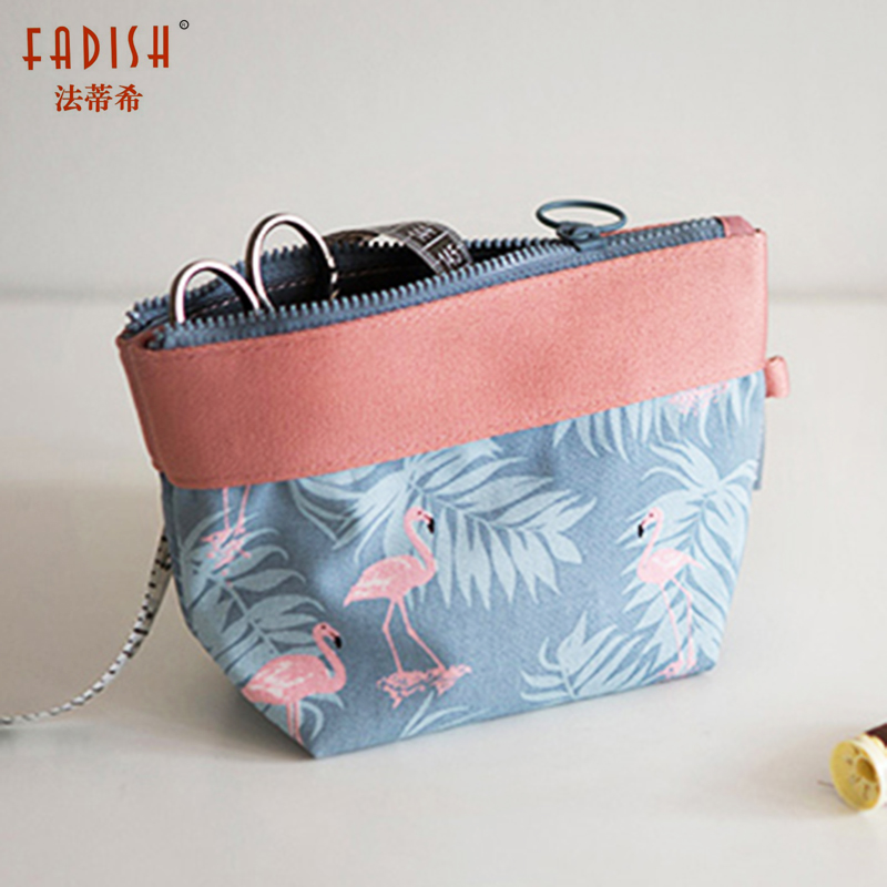 FADISH New Vintage Floral Printed Cosmetic Bag Women Makeup Bags Female Zipper Cosmetics Bag Portable Travel Make Up Pouch new arrival female zipper cosmetics bag large cosmetic bag women make up bags portable travel make up pouch