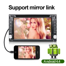 1024X600 2Din Quad Core 1.06GHz CPU 1GB ROM 16G Flash Android 4.4.2 Car DVD GPS Navigation Player Stereo Radio 2 Din Universal