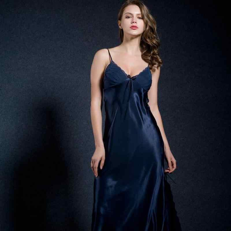 ... CEARPION Camel Long Nightdress Rayon Nightwear Sexy Lace Suspender  Nighty Sleepwear Women s Home Dressing Gown Split ... 3a8d2abf08ae