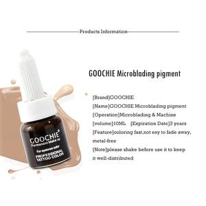 Image 2 - 1 adet GOOCHIE Microblading pigmenti kalıcı makyaj kaş dudak Pigment 6 renk dövme mürekkep kaş Pigment dövme makine mürekkebi
