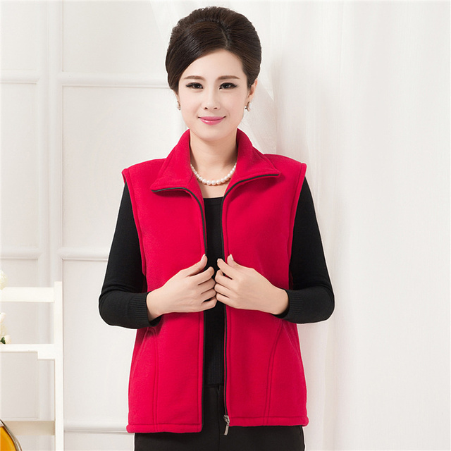 Woman spring plus size Casual Solid sleeveless Turn-down Collar outerwear female autumn winter Cardigan loose overcoat