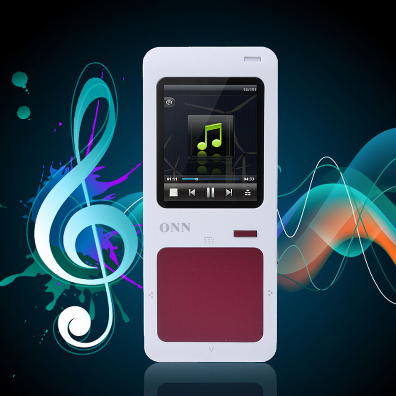 Hot Red battery ONN Q7 4GB Ultra Slim 1 8 TFT Screen Sport MP4 Player FM