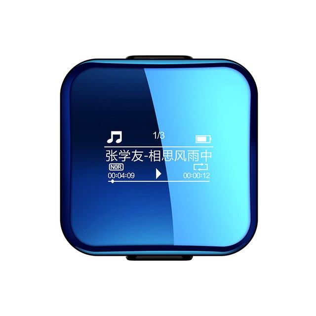 X1 Bluetooth ミニ hifi ロスレススポーツ MP3 音楽プレーヤー音声サウンドレコーダーディクタフォンジョギングウォークマン LRC 高速充電 clicp