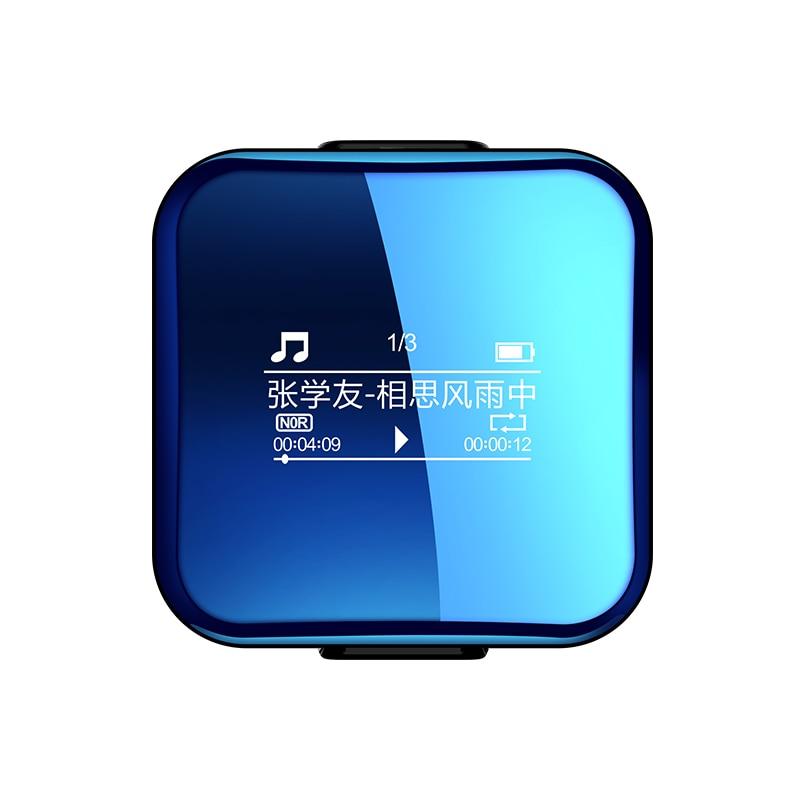 X1 Bluetooth mini hifi sans perte Sport MP3 musique lecteur Voix enregistreur sonore Dictaphone jogging walkman LRC charge rapide clicp