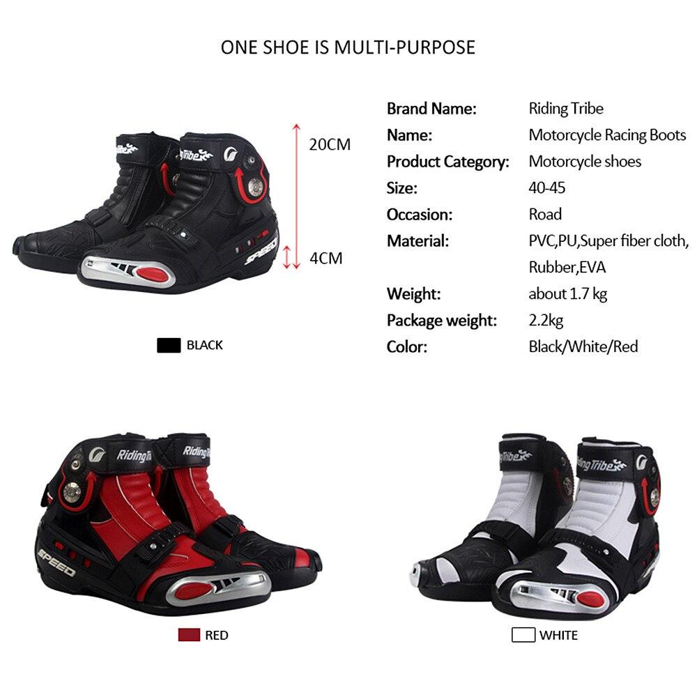 Us 140 14 Brand New Motorcycle Boots Shoes Motocross Botas Moto Motoqueiro Motocicleta A00927 Botte Botas Para Moto Racing Men Shoes In Motocycle