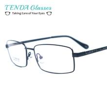 656358fb36164 Homens de negócios Flexível Armações de óculos de Aro Cheio De Titânio Para  Óculos de Leitura