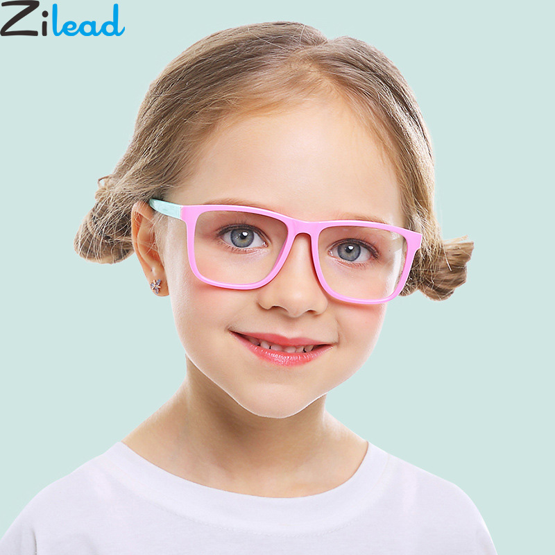 Zilead Classic Kids Anti Blue Light Square Glasses Frame Boys&Girls  Computer Games Goggles Eyeglasses Optical Spectacle