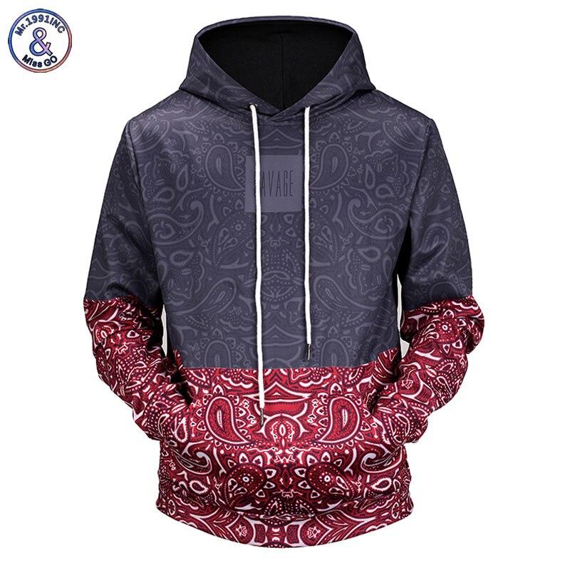 Mr.1991INC Neue 2018 Paisley Floral Stitching 3D Gedruckt Männer/Frauen Mit Kapuze Hoodies Lustige Design Kordelzug 3d Sweatshirts H12051