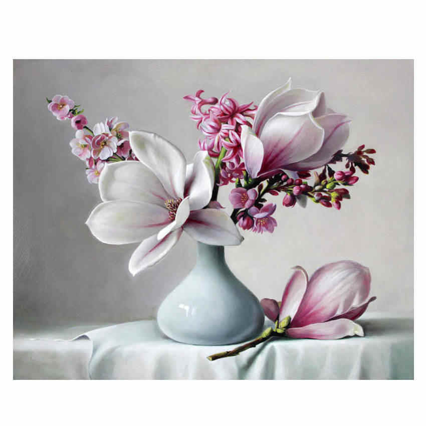 WEEN Flowers Paint By Number kit for adults,DIY Painting by numbers,Home Decor Oil Painting Picture Canvas,Acrylic Paint 40x50cm