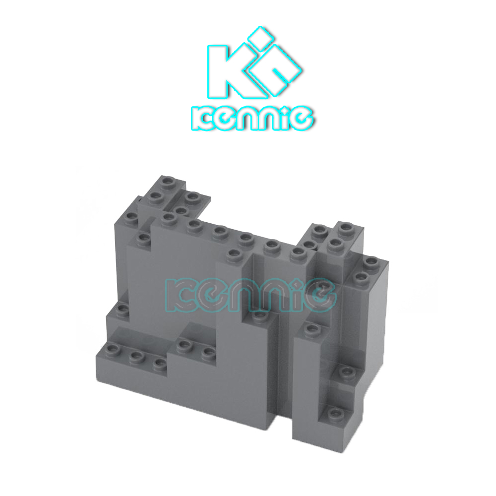 950pcs lot Kennie Brick Parts Flat Tiles 2x4 DIY Block Toy Compatible with Other Brand Assemble