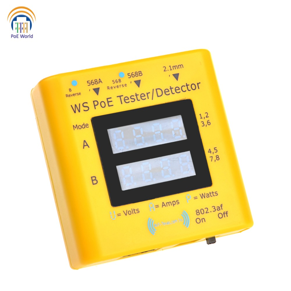 Inline PoE Tester Multi functional Network CCTV Tester POE detector Test the actual power needed LED