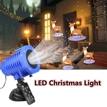 LED Christmas Light 12 themes 20W Laser Projector IP65 Outdoor Garden Laser Projector Spotlight Disco Xmas Lights Remote Control alien outdoor ip65 rg snowflake five pointed star laser light projector waterproof garden xmas tree christmas decorative lights