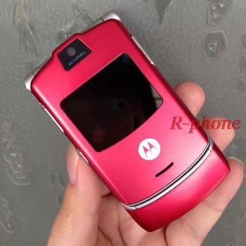 Motorola V3 2G GSM Unlocked Original RAZR V3 Mobile Phone 2