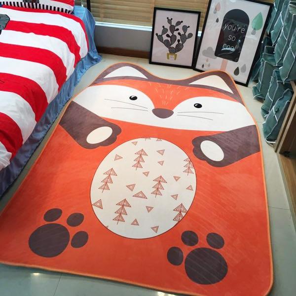 Ins chaud nordique belle bande dessinée jeu tapis de jeu bébé renard ours grenouille Animal tapis enfants salon chambre collalily