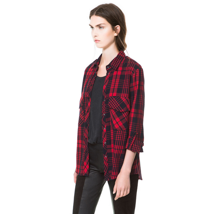 Red and black shirts for womens shirts rock Womens red plaid shirts blouses