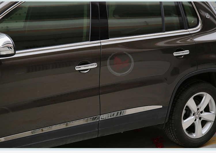 Pour VW GOL G5 G6 2009-2016 Fox Suran croix Chrome poignée de porte couvre garniture Set accessoires de voiture style Voyage Saveiro 2012