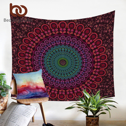 BeddingOutlet Indian Hippie Bohemia Tapestry Mandala Wall Tapestry 200cm Indian Microfiber Bed Sheet Soft Wall Carpet 2017
