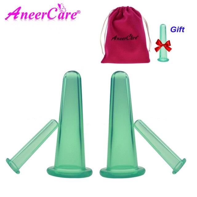 4 Pcs Body Massage Helper Anti Cellulite Vacuum Silicone Cupping Cups Health Care Hot Selling Set Vacuum Cellulite