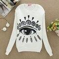 Nuevo otoño de la manera mujeres clothing bling bling ojos imprimir rebordear sudaderas chándales para las mujeres hoodied sudadera b11