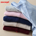 zocept 2016 New Women's Clothing 100% Cashmere Yarn Color Knitted O-Neck Short Cardigan Female Autumn Winter Casual Sweater Coat