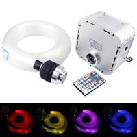 32W RGB  Twinkle  LED fiber optic star ceiling kit light 600pcs*0.75mm*4M optical fiber with 28Key RF remote|Optic Fiber Lights| |  -