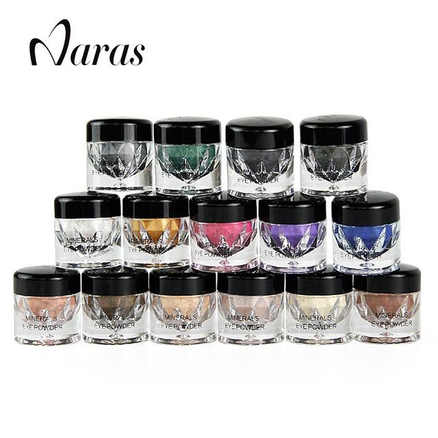 Marca Naras Sombra Shimmer Metálico Brilho Glitter Em Pó Paleta 15 Cores de Sombras Por Música Flor