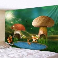 Волшебный лес гобелен настенный красный гриб декоративные настенные