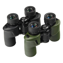 лучшая цена Compact Binoculars 7x30 HD Waterproof Lll Night Vision Non-infrared Binocular BAK4 Portable Outdoor Camping Hunting Telescope
