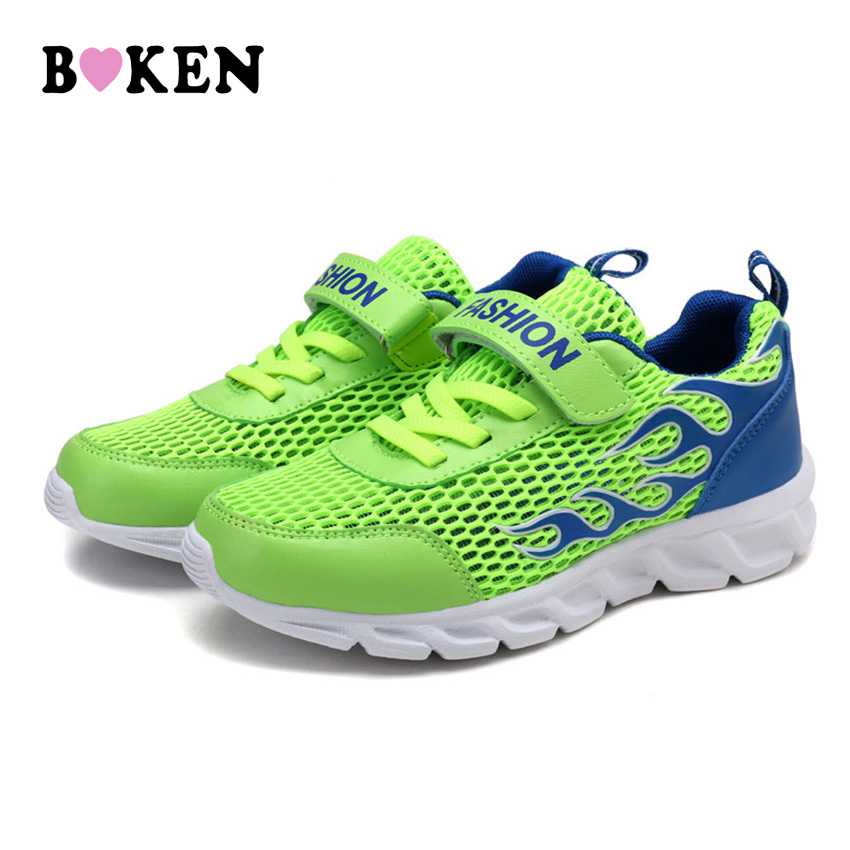 BOKEN Spring Children Casual Running Shoes Comfortable Breathable Sneakers Girls And Boys Non-Slip Soft Bottom Kids Footwear new hot sale children shoes pu leather comfortable breathable running shoes kids led luminous sneakers girls white black pink
