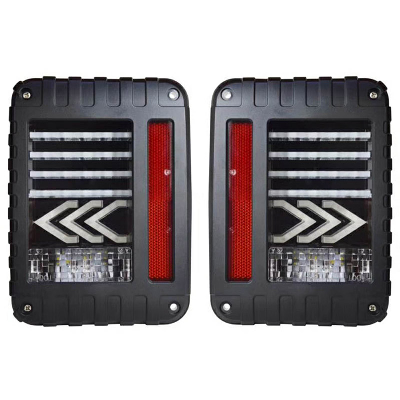 цены 2pcs/pair US&EU Standard Black offroad LED Tail Lights with Rear Signal Brake Reverse Lamps Lighting for Jeep Wrangler Jk