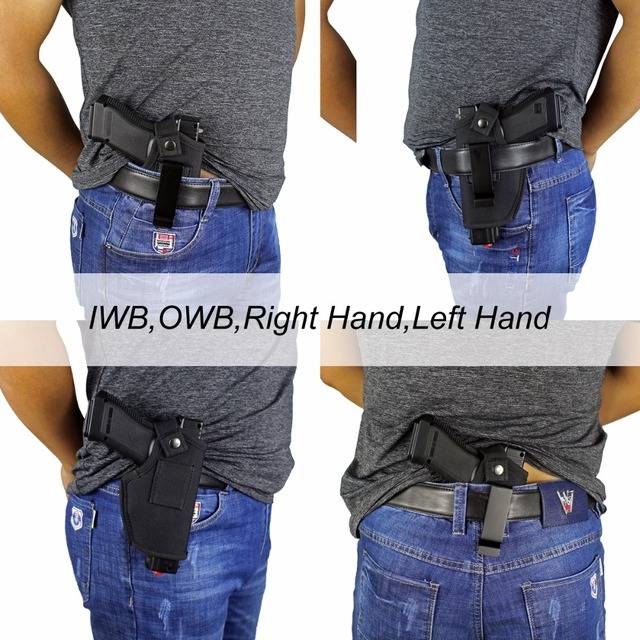 Gun Clip Holster Ultimate Concealed Carry IWB OWB Holster for Right Hand or Left Hand Draw fits Subcompact to Large Handguns  1
