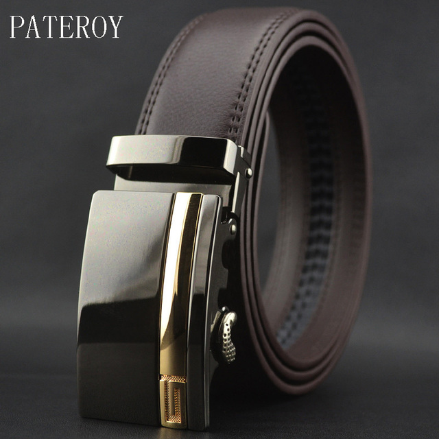 0403a07eb62 Pateroy Belt Ceinture Homme Luxury Designer Belts Men High Quality Fashion  Cinto Ceintures Letter Automatic Bucle Kemerler Belt