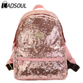 Ladsoul New Casual Women Colorful Canvas Backpacks Girl Student School Travel bags Mochila Women Bag Paillette Bling hl6459/g