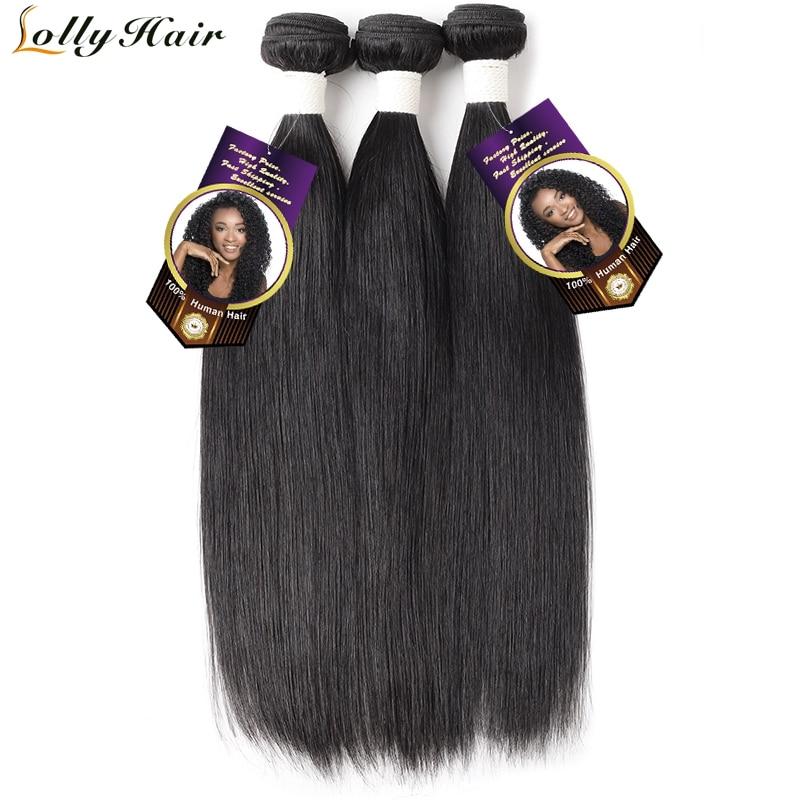 Lolly Indian Hair Bundles Straight Hair Bundles 1/3/4 Pcs/Lot 100% Human Hair Weave Bundles 8-28 inch Natural Color Remy Hair