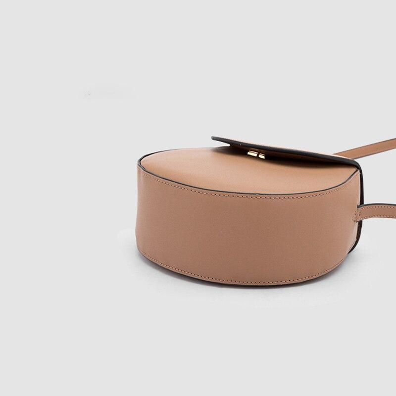 Moda simplesmll rodada saco de couro das senhoras designer de bolsa de couro de alta qualidade saco de grande capacidade de ombro único cruz qq216 - 4