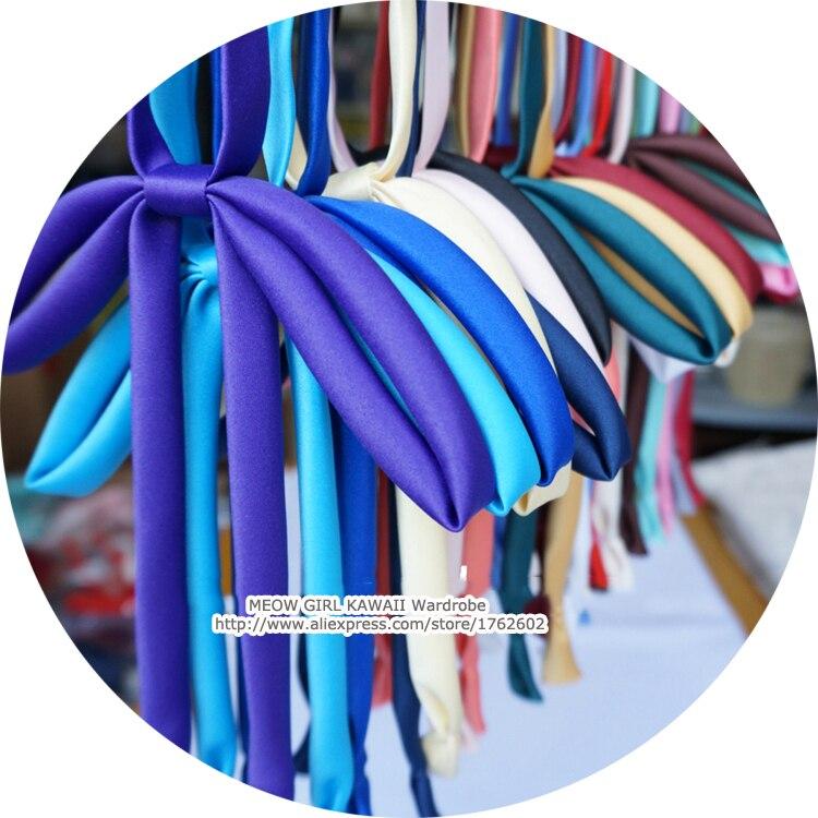Japanischen Jk Hals Bowknot Frauen Mädchen Sailor Uniform Bowtie Krawatte Krawatte 25 Farben Gutes Renommee Auf Der Ganzen Welt Damen-accessoires Krawatten & Taschentücher