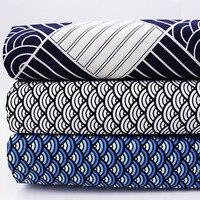 Stampato Tessuto di Cotone Per DIY Patchwork Quilting Cucito Panno Tessile della Casa Tissu Tilda Tessuti Tessuto della Scala di Pesci Mezzo Metro