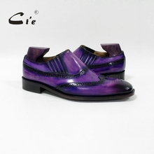 cie sq. toe medallion patina calf leather-based bespoke leather-based males shoe handmade calf leather-based outsole breathable males's idler L-02