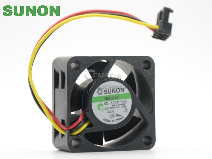Купить с кэшбэком Sunon KDE1204PKVX 4020 40mm 4cm 12V 1.6W For  2950 C2950-24 switch For Huawei 5600 server inverter cooling fan