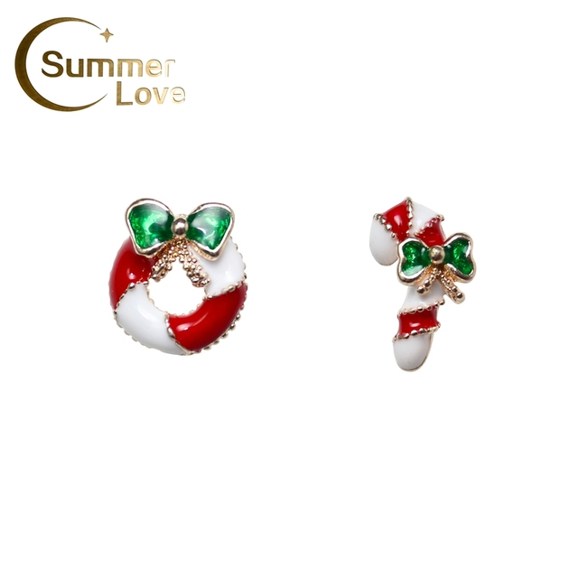 fb5525fc74219 US $1.1 |New Arrive Fashion Christmas Wreath Stud Earrings For Women  Christmas Earrings Brincos Boucle D'oreille Femme Cheap Price E0003-in Stud  ...