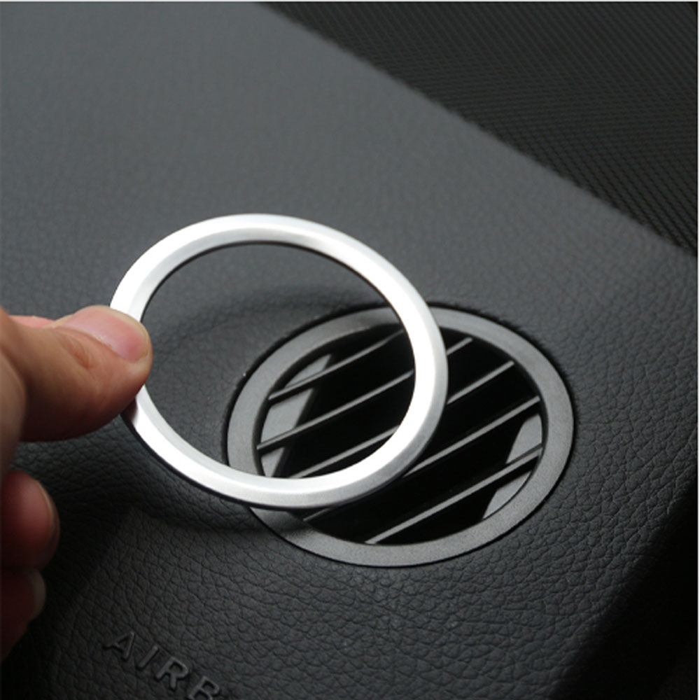 2Pcs/set ABS <font><b>Chrome</b></font> Interior AC Air Vent Outlet Cover Trim Decoration For <font><b>Mercedes</b></font> Benz GLK X204 ML <font><b>W124</b></font> GL X164 Car Accessories image