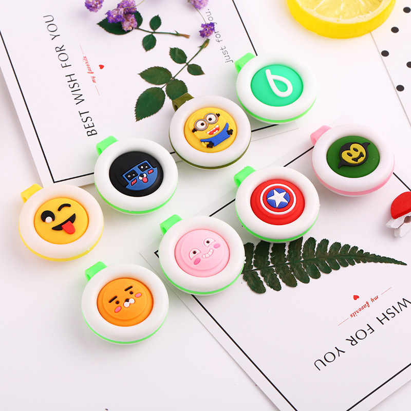1/2/5/10pc Random Color Mosquito Repellent Bracelets Buttons Mini Lightweight Cute Shape Driving Mosquito Baby Children Sleeping