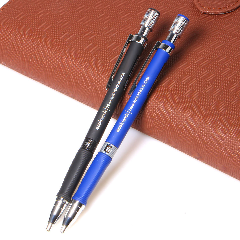 New 1Pcs 2.0 mm Black Lead Mechanical Drafting Drawing Pencil Blue/Black For School And Office Stationery free shipping free shipping high quality microwave oven magnetron 2m261 m32 refurbished magnetron