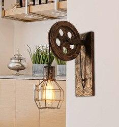Sposoby jest salon sypialni szef łóżku osobowość  z kutego żelaza podnoszenia kinkiet  kinkiet restauracja w Wiszące lampki od Lampy i oświetlenie na