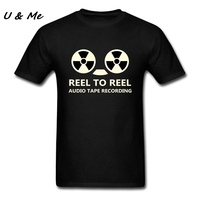 Fitted Homme T-Shirts Adult Music Tee with Reel To Reel ATR Graphic T Shirt Mens Tops Clothing