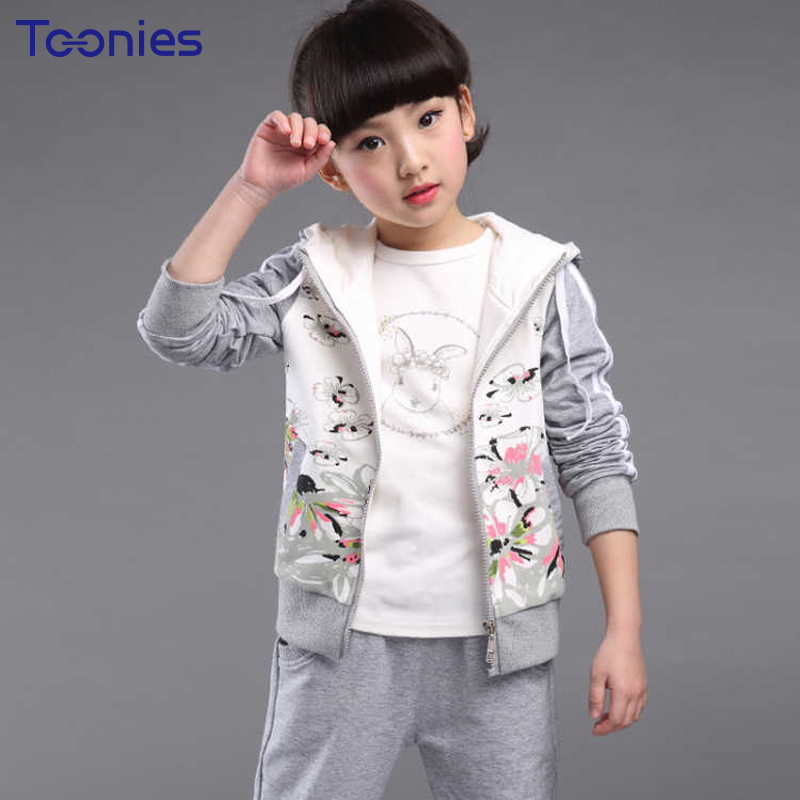 Sportswear Children Fashion Girls Pants Suits 2018 Spring Autumn Girl Suit Casual Active Kids Clothing Sets Hooded Costumes 2pcs 2017 spring autumn children girls set new brand fashion solid shirts cotton pants 2 pieces suits casual kids clothing sets hot