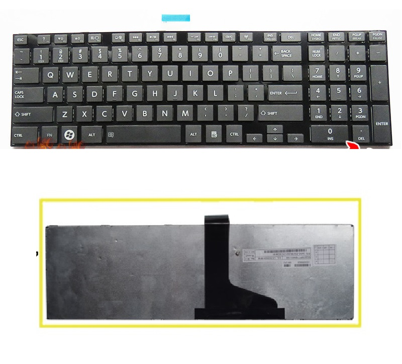 SSEA New US Keyboard with frame For Toshiba Satellite C850 C855 C855D L850 L850D L855 L855D C875 C875D L875D P850 P855 P875D image