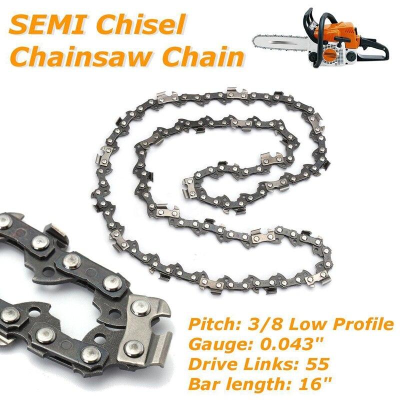 16/'/' Bar Chainsaw Chain Semi Chisel 3//8 Pitch 0.043/'/' 55 DL for Stihl Chainsaw !